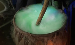Steaming cauldron